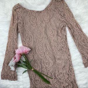 BOGO! Xhileration Floral Lace Mini Dress